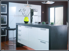 alaska white high gloss kitchen